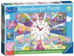 Ravensburger - PEPPA PIG Tell The TIME JIGSAW PUZZLE - 60 Pieces NEW